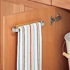 kitchen towel rail cabinet door bar holder storage steel