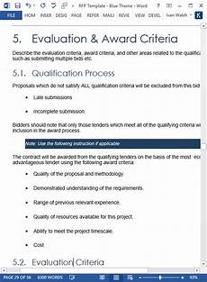 Rfp Templates Word Request For Proposal Rfp Template 56 Page Ms Word 2