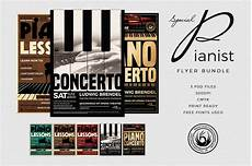 Specials Flyer Template Special Pianist Flyer Bundle Flyer Templates Creative