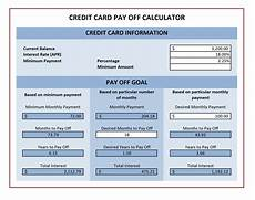 Credit Card Payoff Calc Credit Card Payoff Calculator Excel Templates