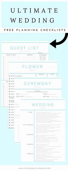 Ultimate Wedding Checklist Ultimate Wedding Planning Checklist City Of Creative Dreams