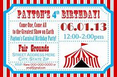Carnival Theme Party Invitations Templates Circus Birthday Party Carnival Invite Circus By