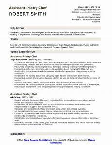Pastry Chef Resume Example Assistant Pastry Chef Resume Samples Qwikresume