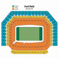 Ford Stadium Seating Chart Ford Field Seating Chart Views And Reviews Detroit Lions