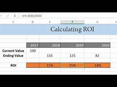 Investment Calculator Excel How To Calculate Roi Return On Investment In Excel Youtube