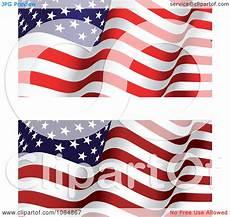 American Flag Watermarks Clipart Waving American Flags Royalty Free Vector