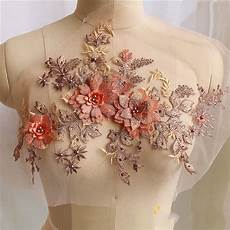 embroidery wedding 3d embroidery flower lace applique pearl beaded