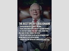The best tips by a billionaire. Warren Buffett quotes on