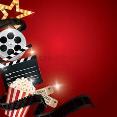 Cine Designer R2 Free Download Cinema Background With Movie Objects Vector Image