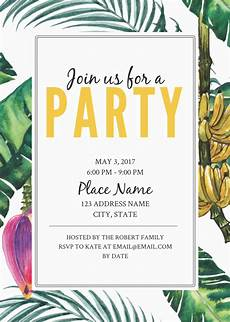 Party Invitation Card Template Jungle Party Birthday Invitation Template Party Invite