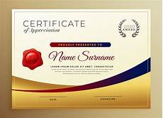 What Is Certificate Of Recognition Premium Golden Certificate Of Appreciation Template