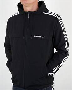 adidas coats for black adidas originals 3 striped windbreaker black jacket