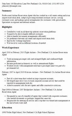 Airline Customer Service Agent Resume Professional Airline Reservation Agent Templates To