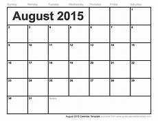 Calendar 2015 August August 2015 Calendar Template September 2015 Calendar