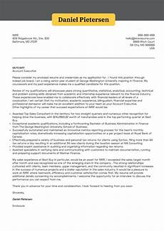 Executive Position Cover Letters Cover Letter Examples By Real People Account Executive