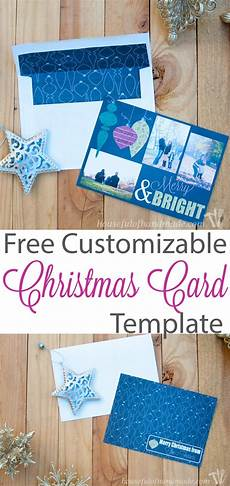 Card Templetes Free Customizable Christmas Card Template Houseful Of
