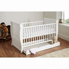 cuddles collection sleigh cot bed white preciouslittleone