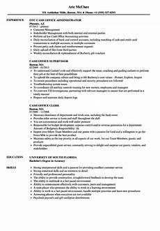 Sample Resume For Office Job Cash Office Resume Samples Velvet Jobs
