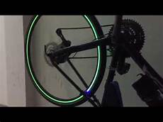 Bicycle Wheel Lights Youtube Bicycle Quot Tron Style Quot Wheel Lights Youtube