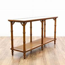 Bamboo Sofa Table 3d Image by Tropical Carved Faux Bamboo Console Table Loveseat