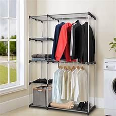 clothes for portable gymax closet organizer garment rack portable clothes