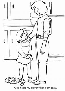 Apology Coloring Pages God Hears My Prayers Coloring Page