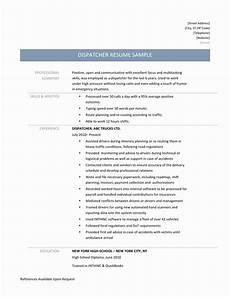 Dispatcher Resume 8 Dispatcher Resume Ideas Resume Template