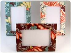 fabric crafts frames instant craftification funky fabric frame redo yup