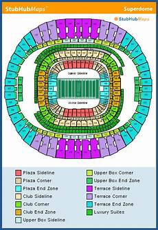 Saints Virtual Seating Chart Mercedes Benz Superdome Seating Chart Pictures