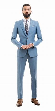 Light Grey Linen Suit Light Blue Linen Suit Custom Made Suits Black Lapel