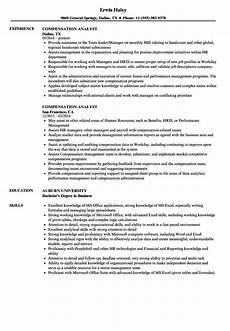 Compensation Analyst Resumes Compensation Analyst Resume Samples Velvet Jobs