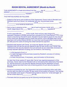 Room Rental Agreement Month To Month Room Rental Agreement Month To Month Free Download