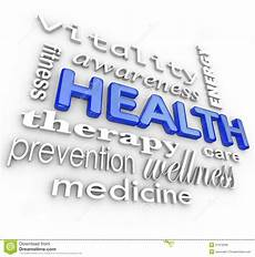 Words Related To Fitness Health Care Collage Words Medicine Background Royalty Free