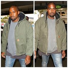 heated coats kanye kanye west wears carhartt active quilted flannel