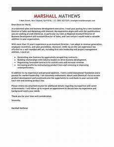 Cover Letter For Business Development Manager Best Assistant Director Cover Letter Examples Livecareer