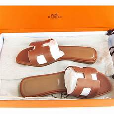 Hermes Shoe Size Chart Hermes Gold Oran Box Leather Sandals Shoes Size 40 Or 9 5