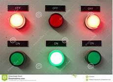 Control Panel Led Lights Red And Green Light Led On Electric Control Panel Showing