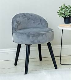 this stunning grey velvet vanity dressing table stool with