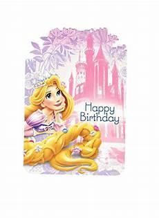 Ausmalbilder Rapunzel Malvorlagen Happy Birthday Hallmark Disney Rapunzel Happy Birthday Greeting Card