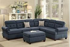 Blue Sectional Sofa 3d Image by Sectional Blue Fabric Sofa Loveseat Wedge Sectionals