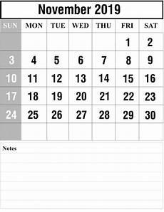 November Calendar Printable Free Blank November 2019 Calendar Printable In Pdf Word