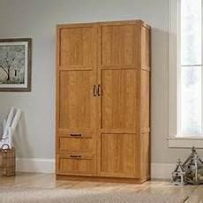 sauder large storage cabinet highland oak