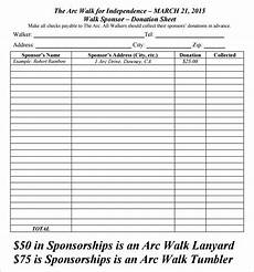 Fundraising Sheet Template Donation Sheet Template 9 Free Pdf Documents Download