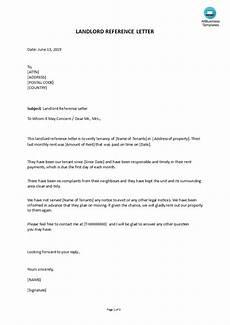 Letter Of Recommendation Landlord Landlord Reference Letter Templates At