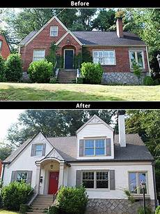 before after painting a brick house the window