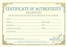 Make A Certificate Of Authenticity Certificate Authenticity Template Art Authenticity
