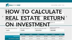 Rental Property Return On Investment Calculate Return On Investment For A Rental Property Youtube