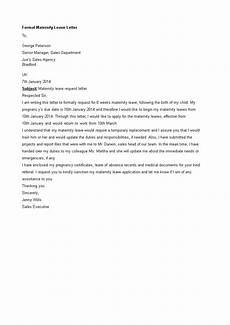 Sample Maternity Letter Maternity Leave Letter Sample Templates At
