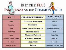 Cold Versus Flu Symptoms Chart Swine Flu Symptoms What Are The Symptoms Of The Flu