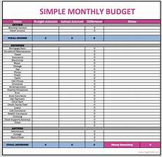 Budget Worksheet Excel Monthly Budget Spreadsheet With Images Budget